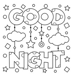 coloring page vector image