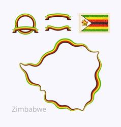 Colors of Zimbabwe vector image