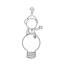 confused businessman character sitting on light vector image