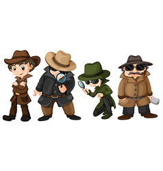 Detectives vector image