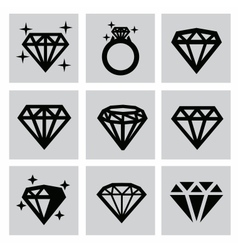 diamond icons vector image