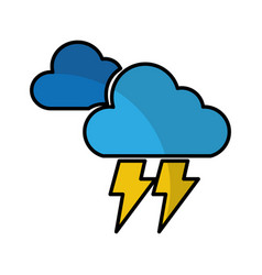 Electric storm weather isolated icon vector