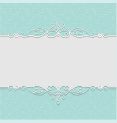 Elegant frame in turquoise colors for wedding vector