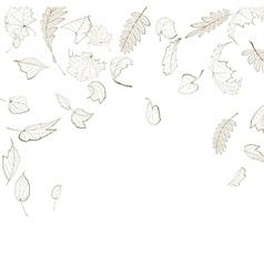 Fall leaf skeletons autumn design template vector