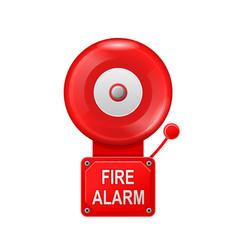 fire alarm system - alarm metall bell public vector image