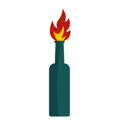 fire bottle icon isolated vector image