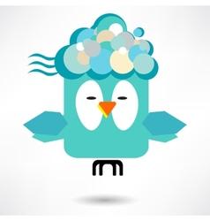 Fly of bird to hand creative idea vector
