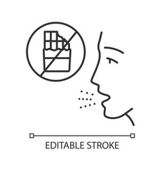 Food allergy linear icon vector