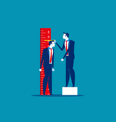 growth leader check progress business vector image
