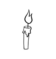 Halloween candle doodle element isolated vector