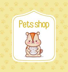 Hamster pet shop vector