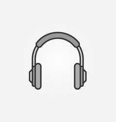 headphones simple icon headphone symbol vector image