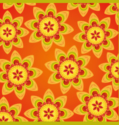 Hindu flowers tradition decoration background vector