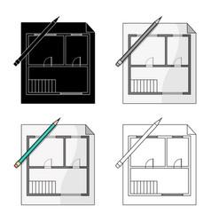 House planrealtor single icon in cartoon style vector