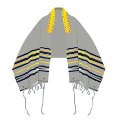 Isolated prayer shawl vector