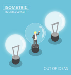 isometric business trapping inside broken light vector image