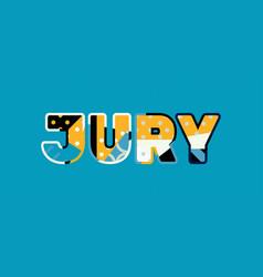 jury concept word art vector image