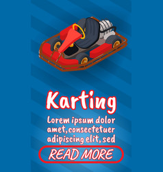 karting concept banner comics isometric style vector image