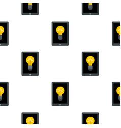 Light bulb on tablet pattern seamless vector