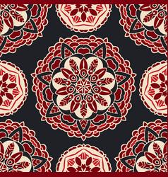 luxury star damask seamless tile motif vector image
