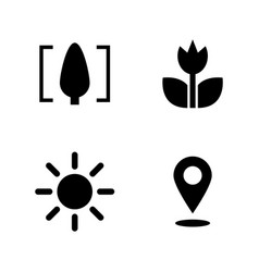 Macro simple related icons vector