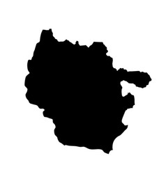 map silhouette lorraine province france vector image