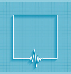 Medical heartbeat cardiograph line background vector