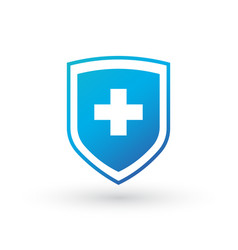 medical shield with cross icon for web banners vector image