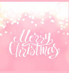 merry christmas creative winter greeting card and vector image