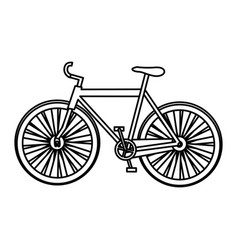 monochrome silhouette with sport bicycle vector image