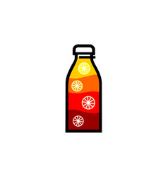orange juice logo fresh juice posters the bottle vector image