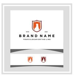 Palo duro shield logo design vector