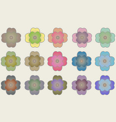 Pattern with flower animals vector