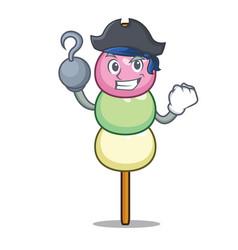 Pirate dango character cartoon style vector