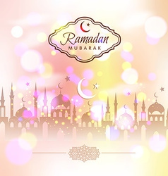 Ramadan kareem abstract background vector