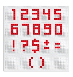 Red Mosaic Number vector