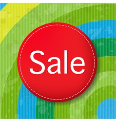Red Sale Poster With Color Line vector