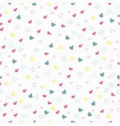 rustic simple seamless pattern with hearts vector image