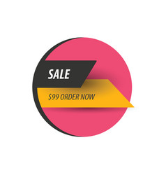 Sale discount design pink yellow black vector