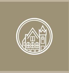 School line art logo vector
