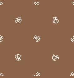Seamless background bee gender neutral pattern vector