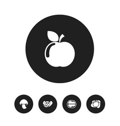Set of 5 editable cookware icons includes symbols vector