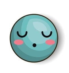 Sleepy emoji blue design isolated vector