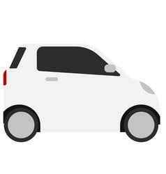 Smart car flat on white vector