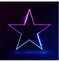 Star pink blue light on dark background vector