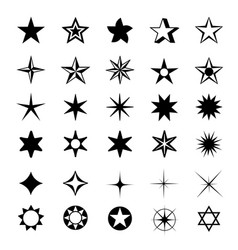star shapes symbol icon vector image
