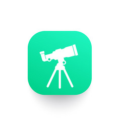 telescope astronomy icon vector image