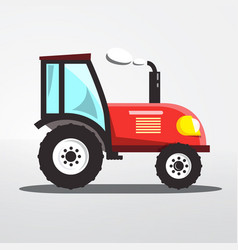 tractor icon isolated flat design agriculture vector image