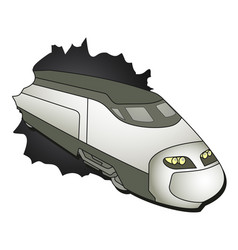 Train travel vector