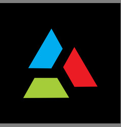 triangle logo colorful vector image